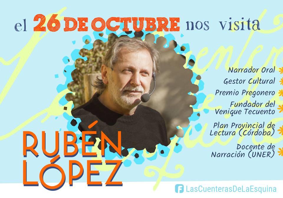 Las Cuenteras de la esquina organizan una jornada con Rubén Lopez