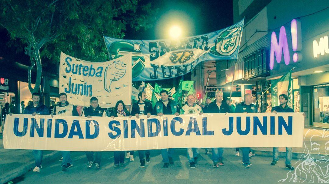 La Mesa de Unidad Sindical se movilizó en Junín
