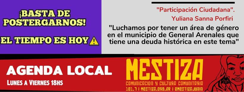 """""""Luchamos por tener un área de género en el municipio de General Arenales que tiene una deuda histórica en este tema"""""""
