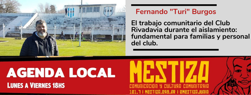 El trabajo comunitario del Club Rivadavia durante el aislamiento