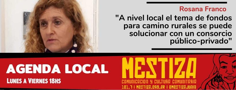 """""""A nivel local el tema de fondos para camino rurales se puede solucionar con un consorcio público-privado"""""""
