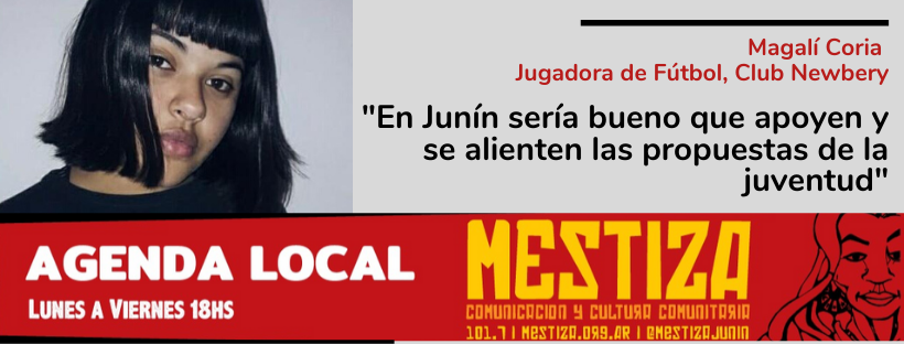 """""""En Junín sería bueno que se apoyen y se alienten las propuestas de la juventud"""""""