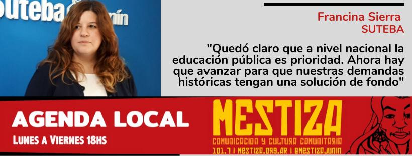 """""""Quedó claro que a nivel nacional la educación pública es prioridad. Ahora hay que avanzar para que nuestras demandas históricas tengan una solución de fondo"""""""