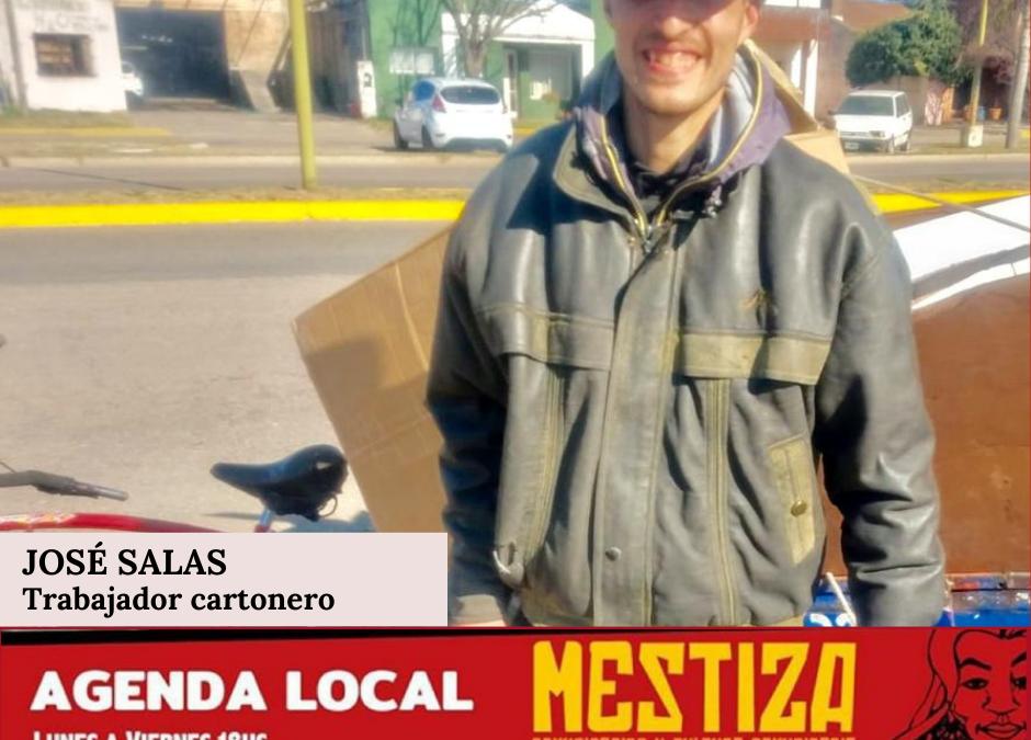 José Salas, trabajador cartonero.