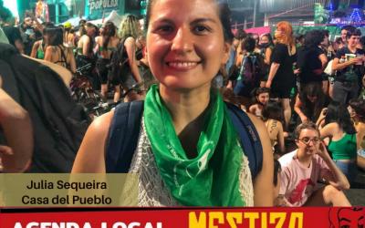 Julia Sequeira, desde la Plaza del Congreso, cubre la movilización por el proyecto de ley de Interrupción Voluntaria del Embarazo