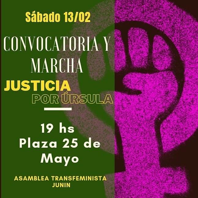 El reclamo por justicia para Úrsula vigente en las calles de nuestra región